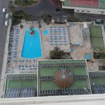 overview of  pool area from 16th floor
