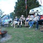 Community campfire gathering