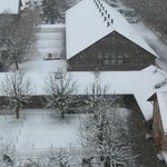 Foto tirada em fevereiro de 2013. Vista da janela do quarto.