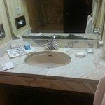 corroding mirror and sloooow draining sink