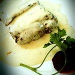 Bife com molho Roquefort