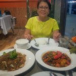 Great dinner - Kaldereta sa baca ug pancit guisado, lami kaayo