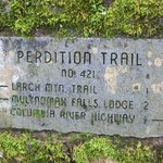 Trail sign in the Gorge