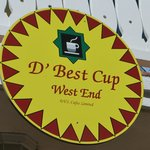 D Best Cup sign