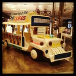 Jeepney made from chocolate. Yum.