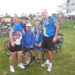 We did it!  Awesome Bike the Bridge Ride, Well maintained Bikes,  Fantastic family outing!