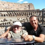 Our Tour Guide Marco Tavola & I at the Colosseum in Rome, Italy