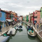 Canal life on Murano, with wall-to-wall boats