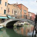 A bridge over a canal in Venice