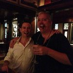 The Maitre d Ben (left) with my husband enjoying a wonderful Martini (the cigar isn't lit)