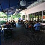 hotel restaurant, outdoor seating