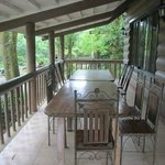 The outdoor veranda