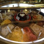 Rotating gelato freezer at Allegro