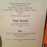 today special menu when I stopped in.