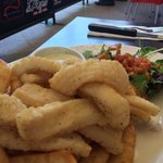 Salt and pepper calamari. Very tender