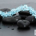Blue Topaz Teardrop Necklace with Silver clasp