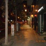 Carrer Gran de Gracia the night we arrived