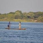 Our Sundowner on the Zambezi