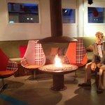 A Cozy Modern Art Lobby