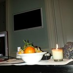 Fresh fruit placed in my room