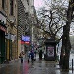 Om de hoek bij Aventura Boutique Hostel Budapest vanaf de Margarets Bridge