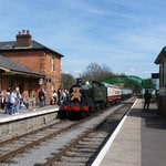 Go back in time,travel behind a steam engine between period stations through picturesque country