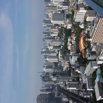 A view of Bangkok from the 49th floor of Marriot Hotel