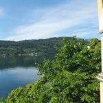 Blick aus dem haupthaus vom 1 Stock der See-Villa