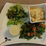 volaille tandoori et ses légumes