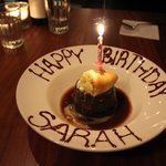 birthday sticky toffee pudding and clotted cream :)