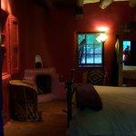 Azul room looking towards the kiva