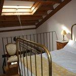 Bedroom above lounge below