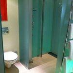 Shower cabin with no door