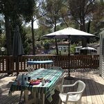 terrasse mobilhome. holiday green