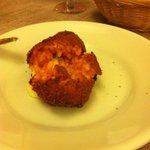 Cucina Romana Deep fried Rice stuffed with cheesy goodness