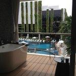 Badewanne am Balkon