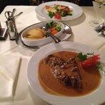 Gemütliches Abendessen: Doraden Filet und Entrecòte mit Pfeffersoße, lecker!!!