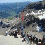 vue depuis le glacier 3000
