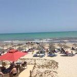 Vue sur la plage depuis le solarium