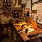 Laboratory of woodcarver Bruno Barbon in Venice