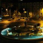 Piazza della Repubblica and fountain a seen from room 305