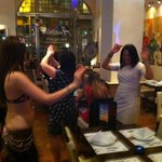 having a go at some bellydancing