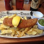 This was my Haddock, chips and mushy peas, in the revamped Harry Ramsdens. still a Great Meal. S