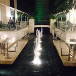 Overlooking the water feature adjacent to Opa in The Limegrove. Opa is on the left..