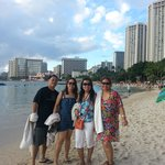 Waikiki beach with cousins