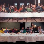 "Re-enactment of the ""Last Supper"" by our project group from Europeana Creative - great fun!"