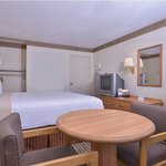 Our newly updated bedroom equipped with several amenities