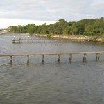 Blick von der Veranda Richtung Uferweg