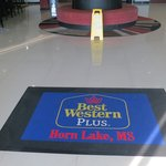 A nice welcoming mat meets you in the foyer