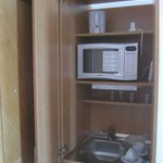 Cupboard with sink and tea making facilities